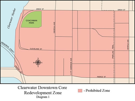 solicit restriction map - downtown